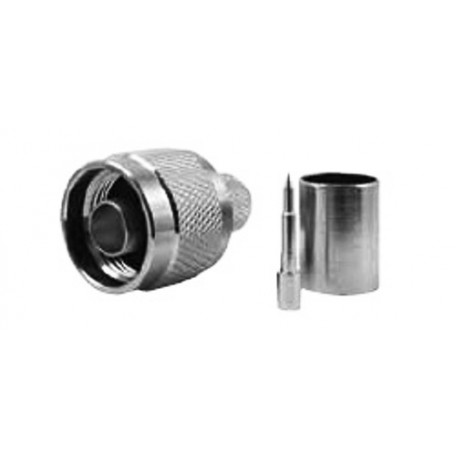 Marlow N male connector crimping type in teflon for RG213/CO22/BF6008/RH-200/RT5020