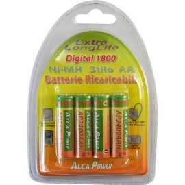 Alcapower AP1800AAH-C4 Ni-MH Rechargeable Batteries AA