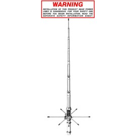 SIRIO 827 - TUNABLE BASE STATION ANTENNA 26.4-28.4 MHZ + Radial reinforcement ring